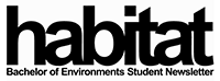 Habitat - Bachelor of Environments Student Newsletter logo